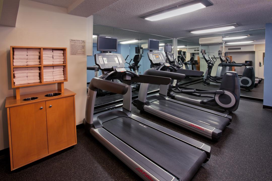 Fitness Facility with treadmills and elliptical machine