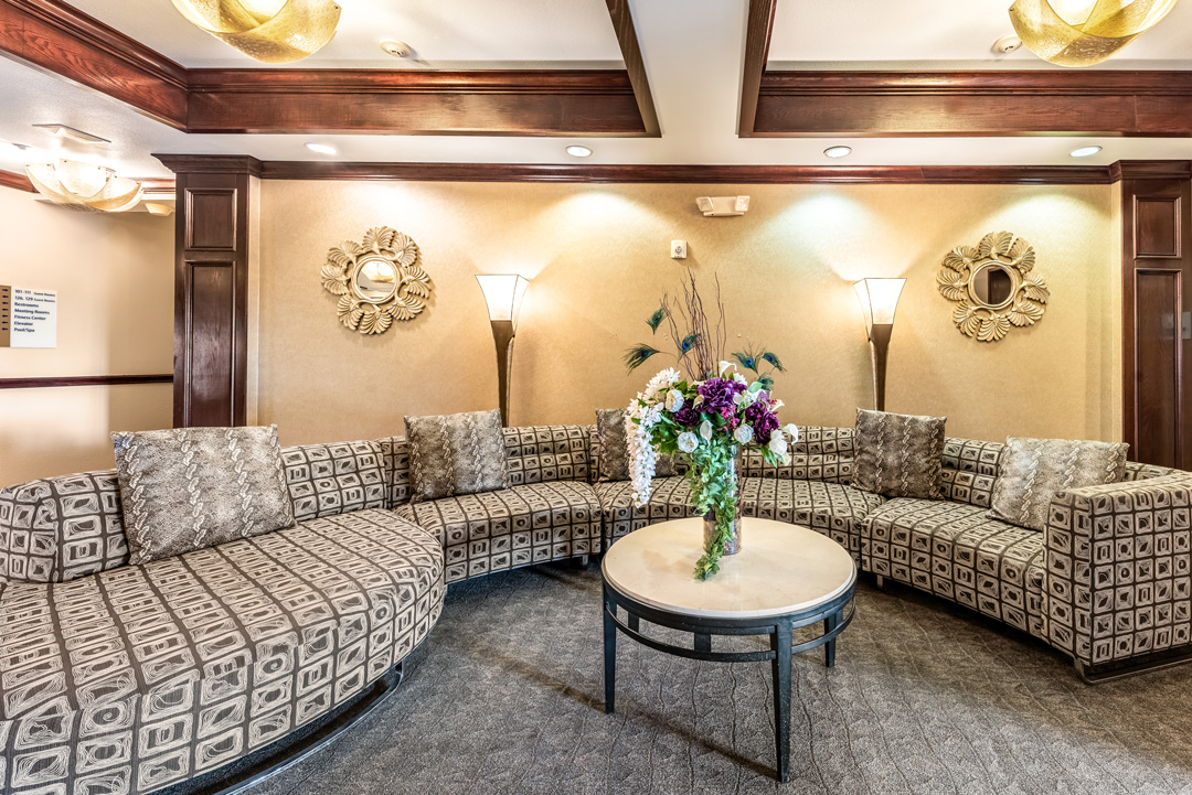 Hotel lobby spacious sitting area
