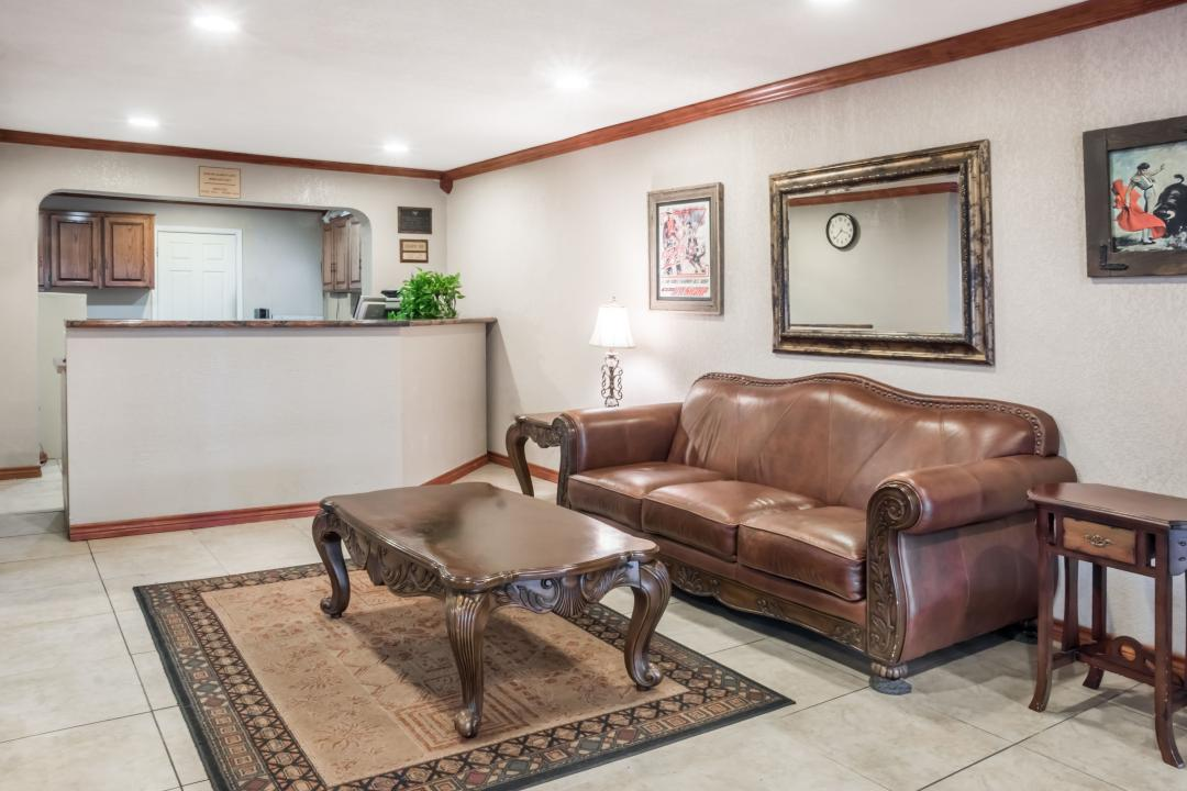 Lobby With Leather Couch