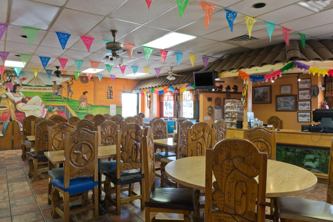 Mexican style restaurant with ample seating