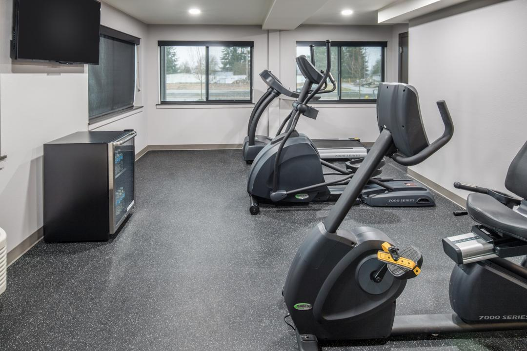 Guest Fitness Center with complimentary waters