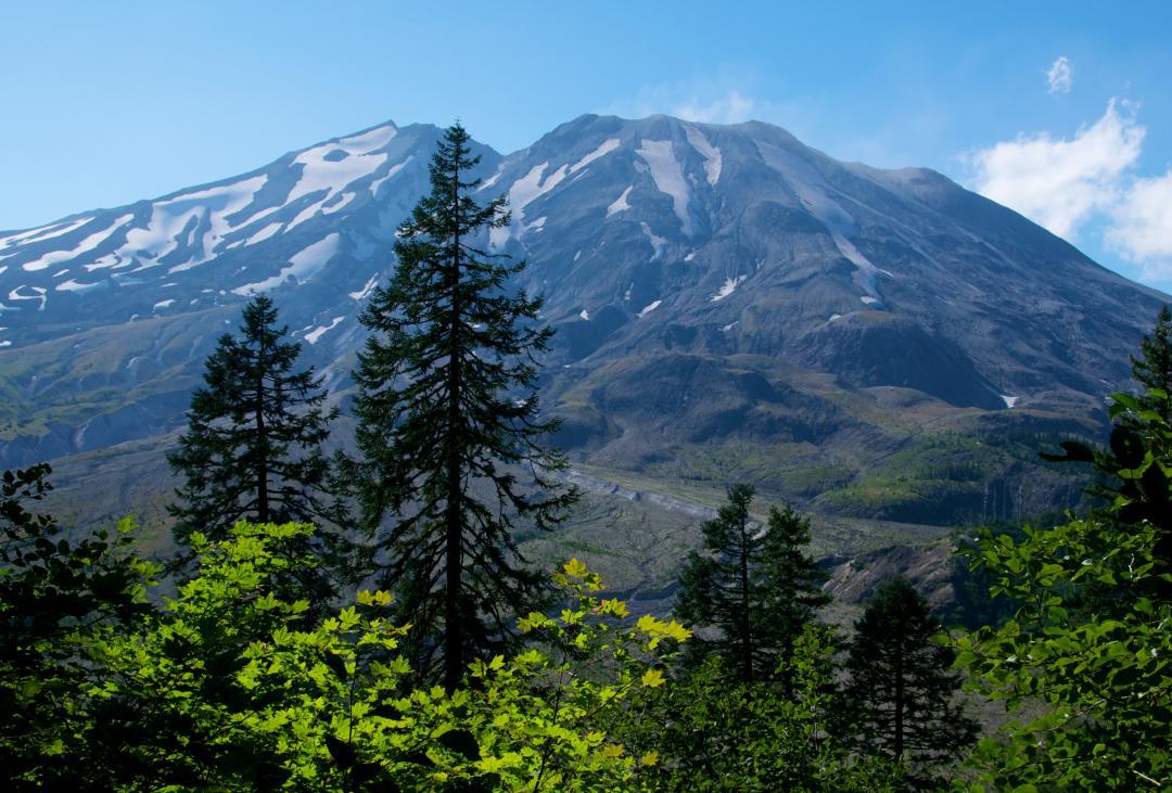 Close Up View of Mt. St. Helens