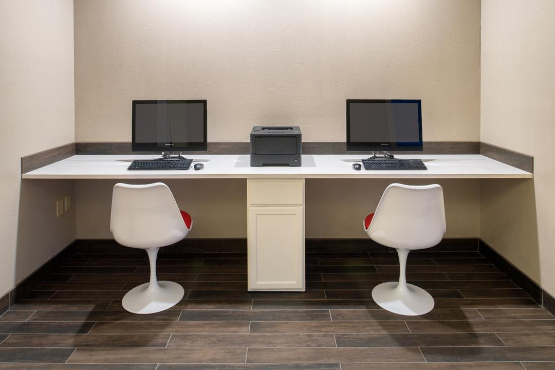 Business Center with two computers