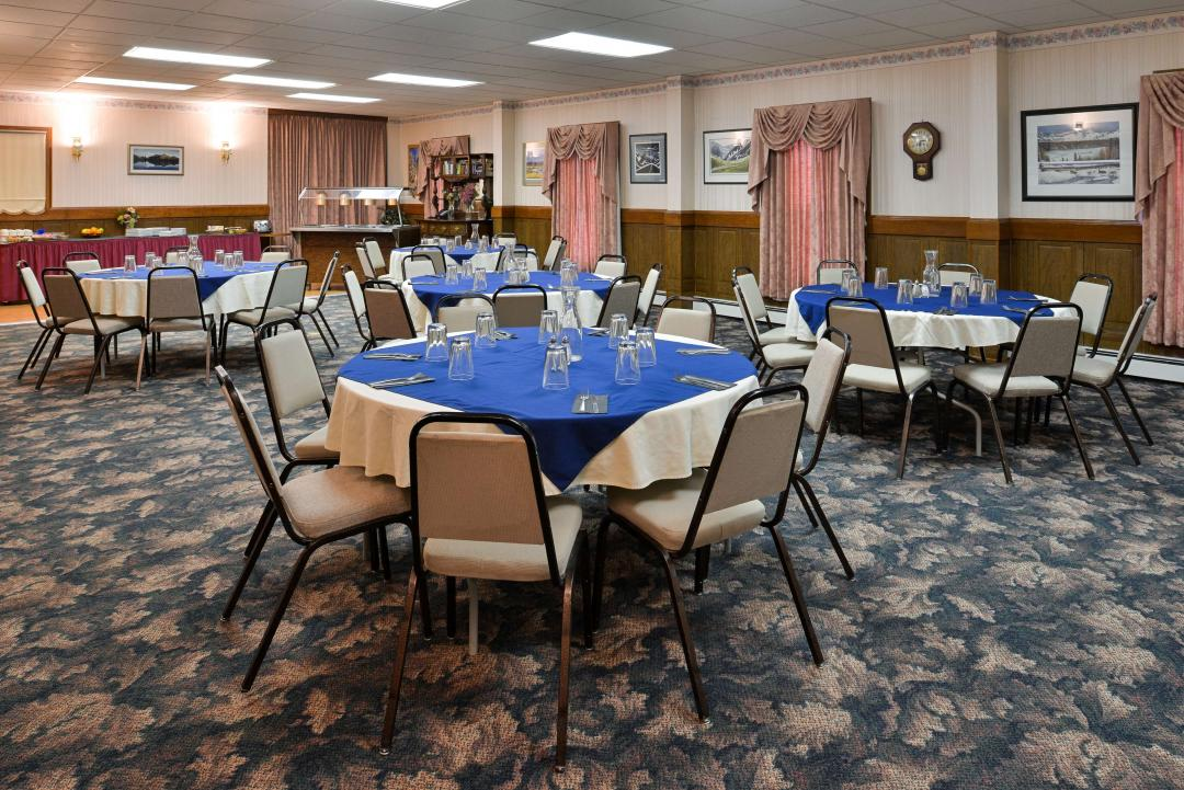 Banquet Room with Buffet and seating