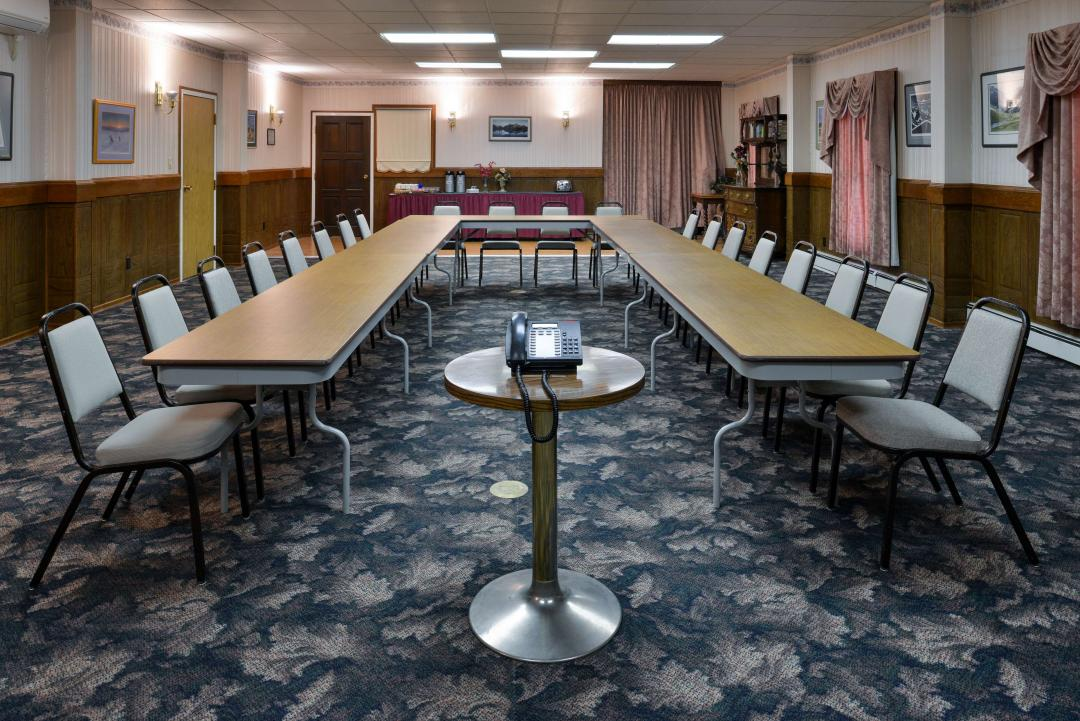 Large Meeting Room with Banquet Table